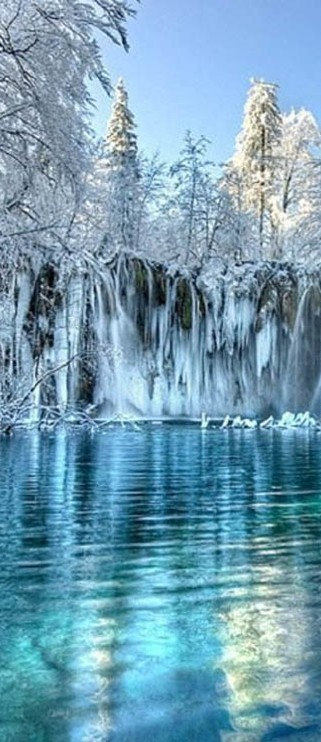 Winter at Plitvice L
